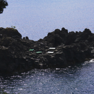 Baden gehen im Atlantik auf der Insel Pico