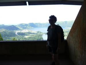 Aussicht von einem Balkon des verlassenen Hotels
